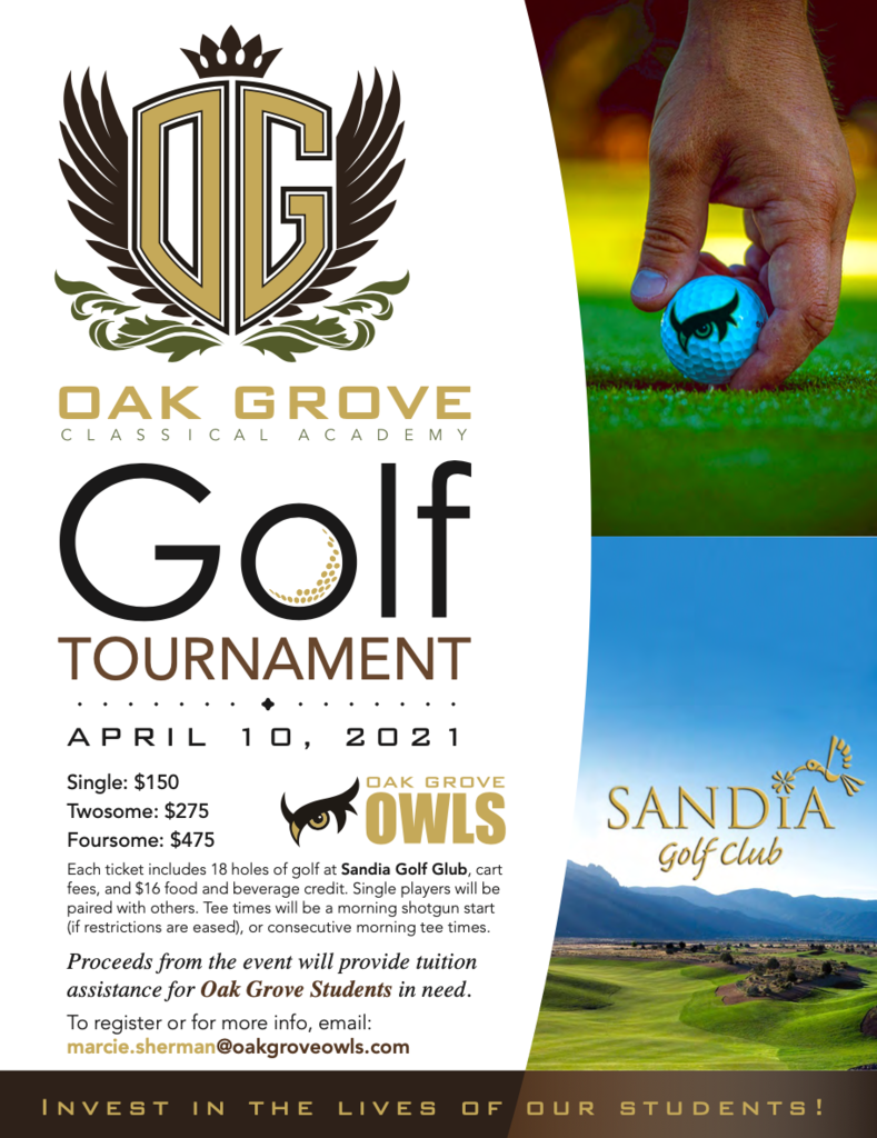flyer for golf tournament